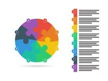 O espectro do arco-íris coloriu o molde infographic da apresentação do enigma com o campo explicativo do texto isolado no fundo b Foto de Stock Royalty Free