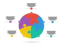 O espectro do arco-íris coloriu o molde infographic da apresentação do enigma com o campo explicativo do texto isolado no fundo b Foto de Stock