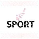O esporte da palavra é das letras estilizados Foto de Stock Royalty Free