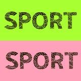 O esporte da palavra é das letras estilizados Imagem de Stock Royalty Free