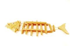 O esqueleto de madeira de um peixe. Foto de Stock