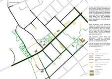 2.o esquema del mapa de la ciudad Imagen de archivo libre de regalías