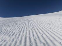 O esqui fresco inclina-se amanhecer Foto de Stock Royalty Free