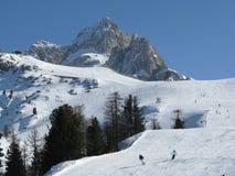 O esqui inclina-se Faloria Imagens de Stock