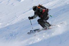 O esqui livra a equitação Imagem de Stock Royalty Free