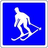 O esqui permitiu o sinal ilustração do vetor
