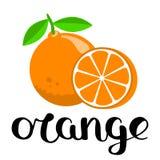 O está para la naranja Imagen de archivo libre de regalías