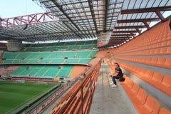 O estádio de Stadio Giuseppe Meazza em Milão, Itália Foto de Stock
