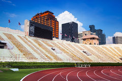 O estádio nacional de Tailândia ou de estádio de Suphachalasai, Banguecoque. fotografia de stock royalty free
