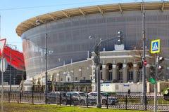 O estádio novo para o campeonato mundial 2018 Foto de Stock Royalty Free