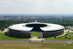 O Estádio Olímpico de Berlim. Fotos de Stock
