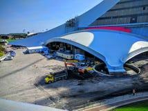 O Estádio Olímpico do terreno de Montreal Canadá Foto de Stock