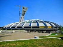 O Estádio Olímpico do terreno de Montreal Canadá Imagem de Stock Royalty Free