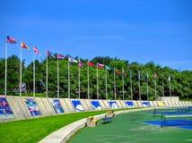 O Estádio Olímpico do terreno de Montreal Canadá Imagem de Stock