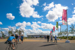 O Estádio Olímpico em Londres, Reino Unido Fotografia de Stock Royalty Free