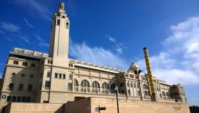 O Estádio Olímpico Lluis Companys em Barcelona, Espanha Fotografia de Stock Royalty Free