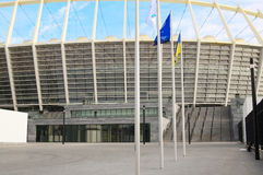 O Estádio Olímpico sob a construção para o EURO 2012 do UEFA Foto de Stock Royalty Free
