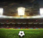 O estádio para esportes e os concertos esvaziam em um dia ensolarado Imagem de Stock