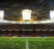O estádio para esportes e os concertos esvaziam em um dia ensolarado Fotos de Stock Royalty Free