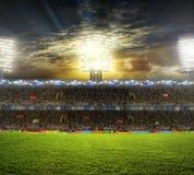 O estádio para esportes e os concertos esvaziam em um dia ensolarado Fotografia de Stock Royalty Free