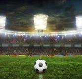 O estádio para esportes e os concertos esvaziam em um dia ensolarado Imagens de Stock