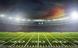 O estádio para esportes e os concertos esvaziam em um dia ensolarado Foto de Stock Royalty Free