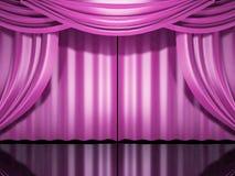 O estágio cor-de-rosa drapeja ilustração do vetor