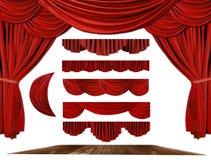 O estágio do teatro drapeja elementos para criar seus próprios vagabundos ilustração stock