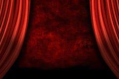 O estágio drapeja com fundo de Grunge ilustração royalty free