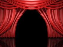 O estágio vermelho drapeja ilustração royalty free