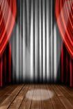 O estágio vertical drapeja com luz do ponto ilustração do vetor
