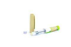 O estúdio disparou de uma pena da insulina, medicina para o diabetes Fotografia de Stock