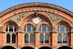 O estação de caminhos-de-ferro em Brema, Alemanha Imagens de Stock Royalty Free