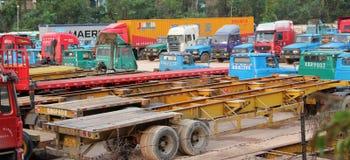 O estacionamento do caminhão Fotografia de Stock