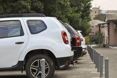 O estacionamento do carro imagem de stock