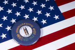 O estado de Kentucky nos EUA fotografia de stock royalty free