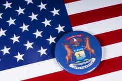 O estado de Michigan nos EUA fotografia de stock