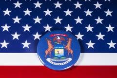 O estado de Michigan nos EUA fotografia de stock royalty free