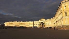 O estado maior geral no quadrado do palácio St Petersburg 4K vídeos de arquivo