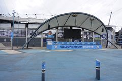 O estádio de Manchester City Etihad Imagem de Stock Royalty Free