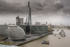 O estilhaço e a cidade Hall London fotografia de stock