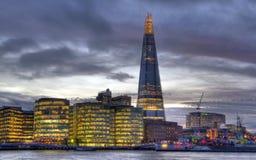 O estilhaço em Londres foto de stock