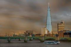 O estilhaço em um dia nublado Fotografia de Stock Royalty Free