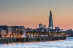 O estilhaço na skyline de Londres imagens de stock