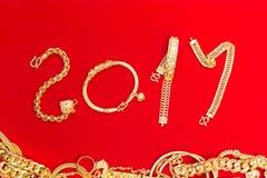O estilo asiático acessório do ornamento bonito luxuoso do pendente dos ouro é Fotografia de Stock
