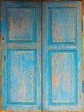 o estilo de madeira azul do vintage da janela Fotografia de Stock Royalty Free
