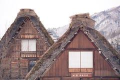 O estilo do gassho da casa em shirakawa-vai Imagem de Stock