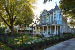 O estilo do victorian das alturas de Houston abriga Texas imagens de stock royalty free