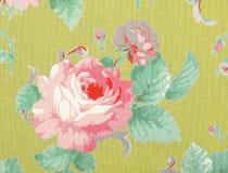O estilo do vintage da tapeçaria floresce o fundo do teste padrão da tela Fotos de Stock Royalty Free