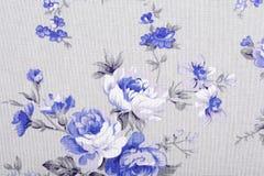 O estilo do vintage da tapeçaria floresce o teste padrão da tela Fotos de Stock Royalty Free